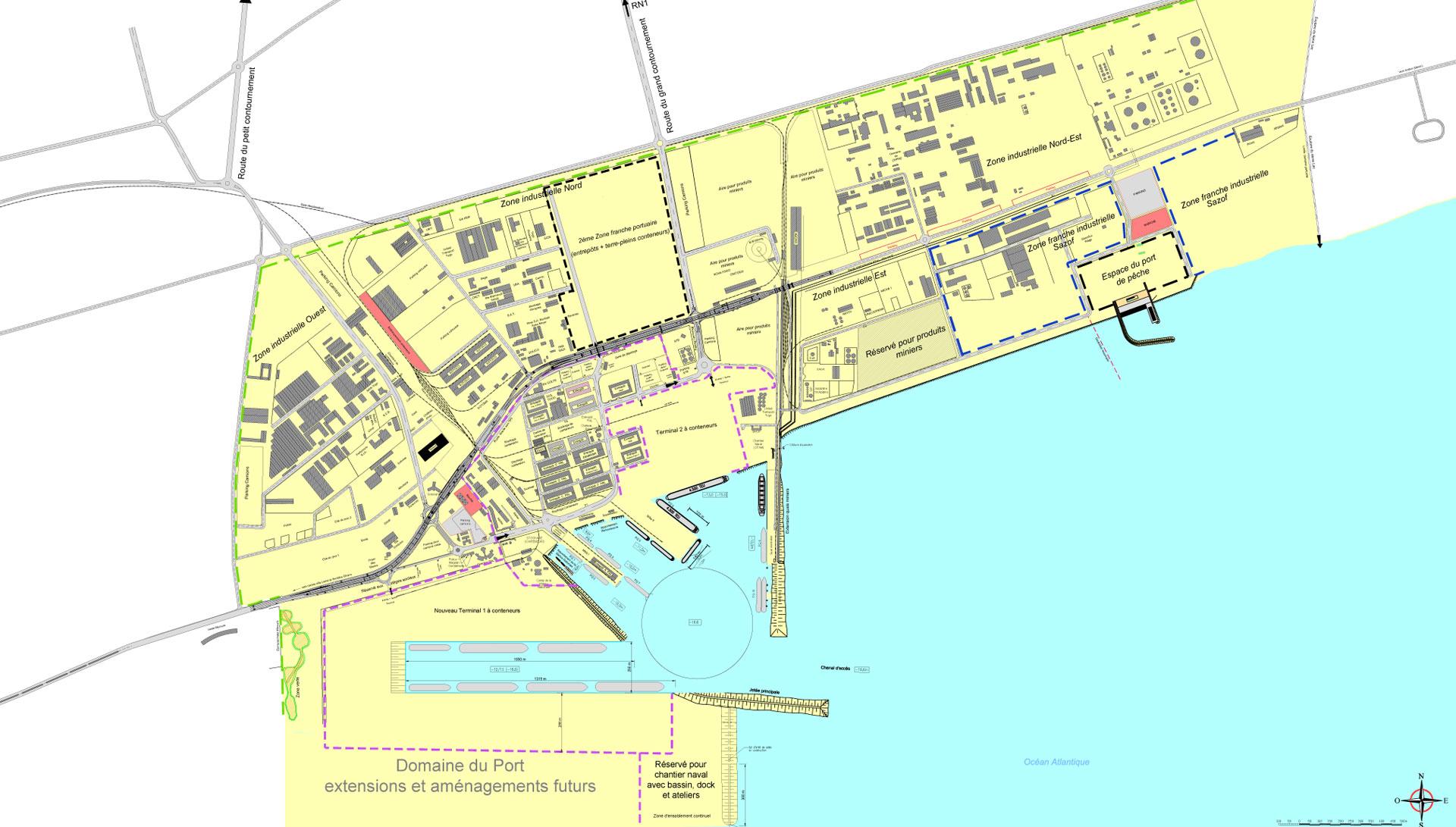 Plan général du port