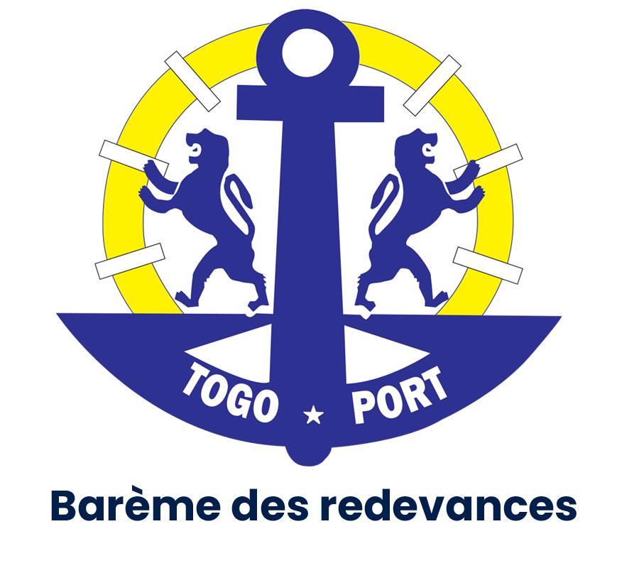 Barème des redevances du port autonome de Lomé